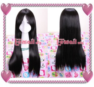 Anime straight Cosplay wig