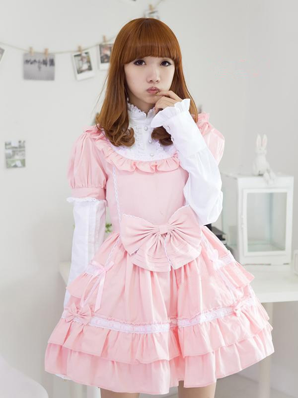 sweet-pink-removable-sleeves-bow-lolita