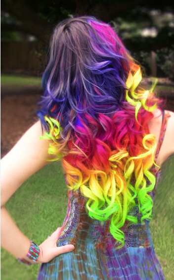 rainbow-wig beauty