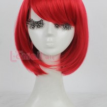 35cm Short Straight Red Bob Wig