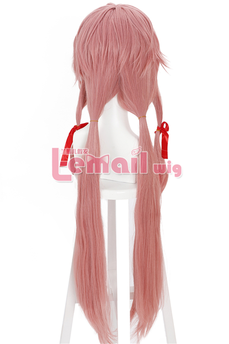 Hot Sale Pink The Future Diary Gasai Yuno Cosplay Wig