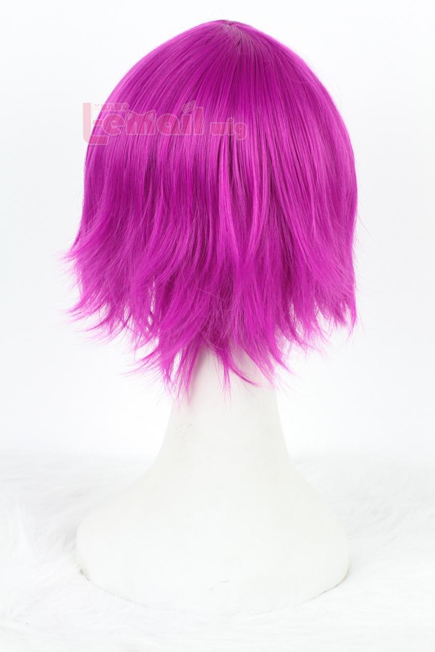 League of Legends 30cm Short Straight Fuchsia Annie Cosplay Wig