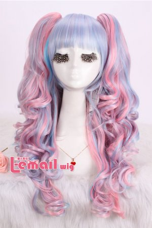 Lolita Two Tone Mixed/ Multi Color Wigs