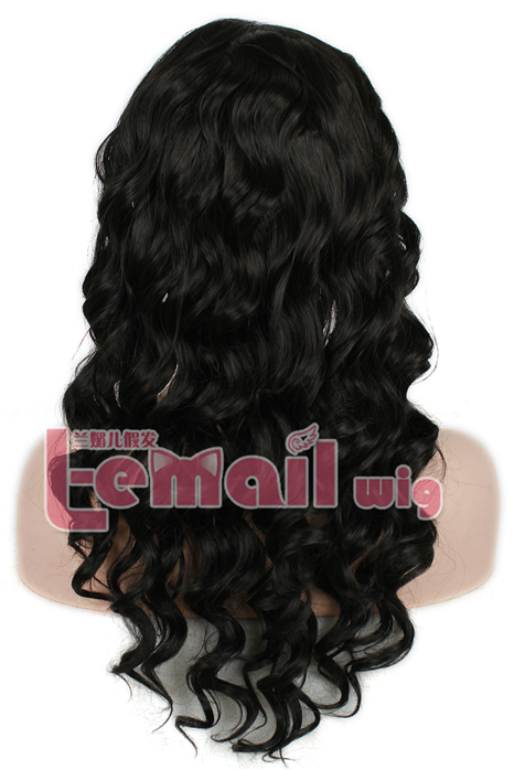 22 Inch Natural Black Wave/ Curly Lace Front Wig