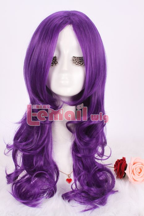 50cm Long Purple My Little Pony Rarity Wavy Cosplay wig