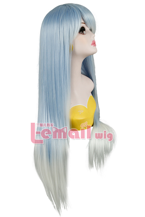 Blue Fade White Cosplay Wig