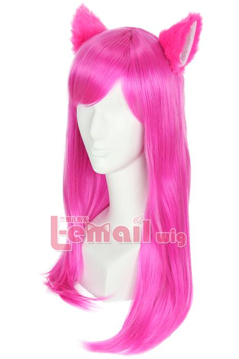 Medium Length Magenta Straight Wig
