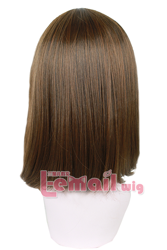 35cm Light Brown Wig for Daily Fashion & Cosplay