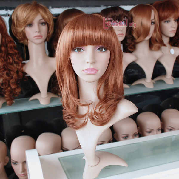 45cm Medium Golden Brown Fashion Wig