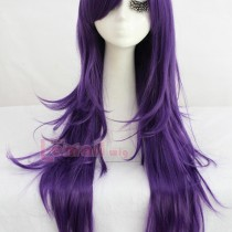 80cm Long Purple Color Wigs with Straight/ Curly for Your Needs