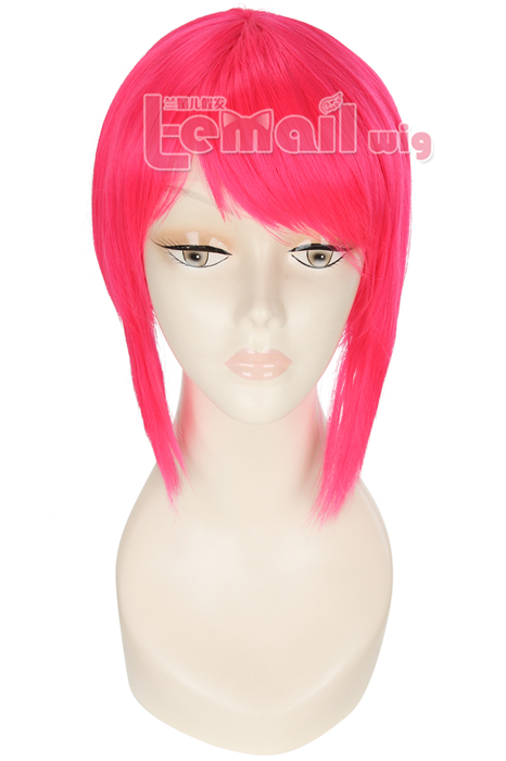 Short Pink Ponytail Cosplay Wig