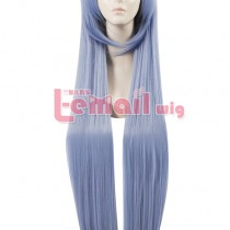 100cm Long Sky Blue Cosplay Wig