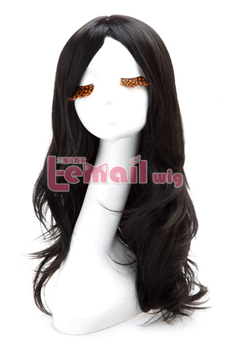 Synthetic 60cm Long Black Wig