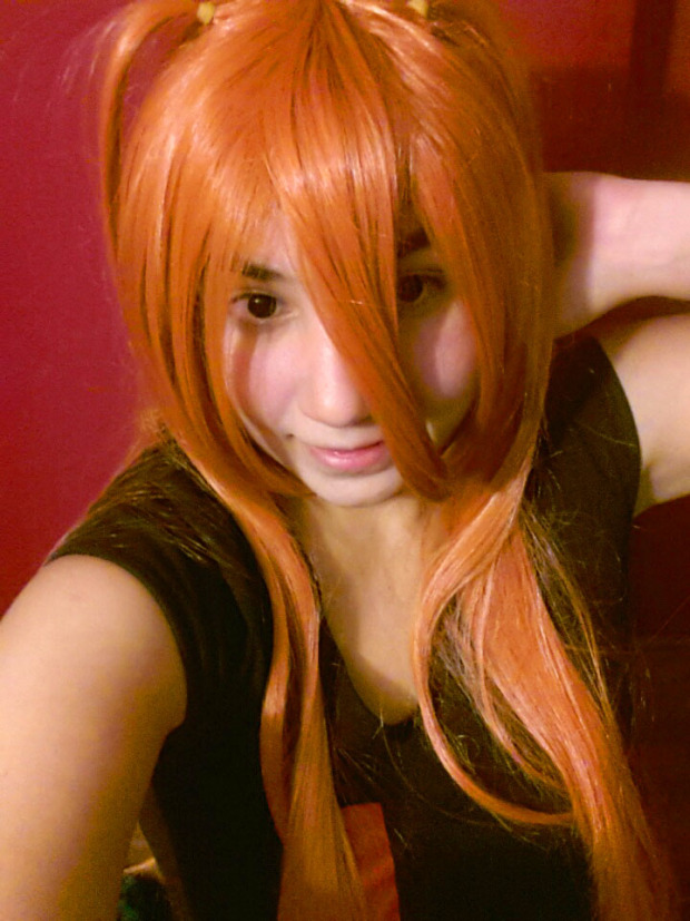 Orange Mikuru Asahina/Asuka Straight Cosplay Wig ML64 Review