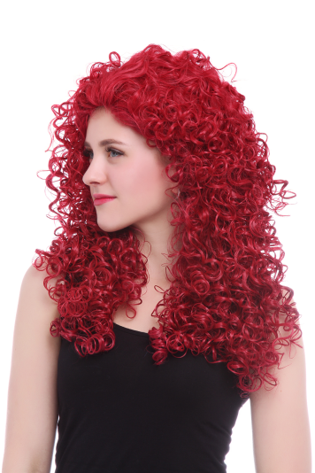 red color mireda wig