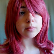 Love live hot pink cosplay wig