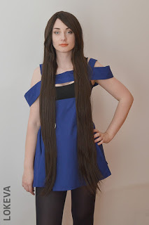 ROLECOS 100cm long light brown straight fashion wig review