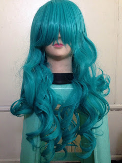 Wig Supplier /L-Email Dark Turquoise Wig Review