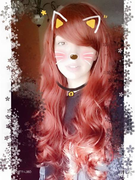 60cm Long wine red charm sweet curly wig