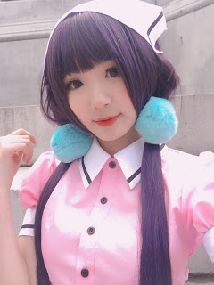 Lemail Cosplay Wigs Maika Sakuranomiya Blend S cosplay costume review