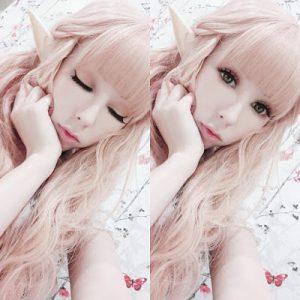 Orange Pink Curly Wig.jpg
