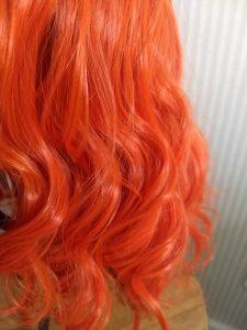 Short Curly Cute Orange Women Fashion Wig