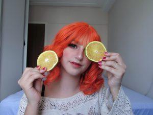 Curly Orange Fashion Wig