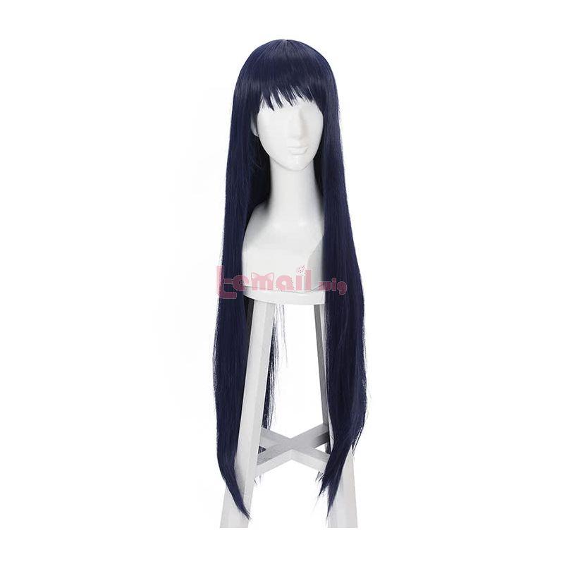 Anime Shimoneta Ayame Kajou Cosplay Wig 100cm Long Straight Blue Wig