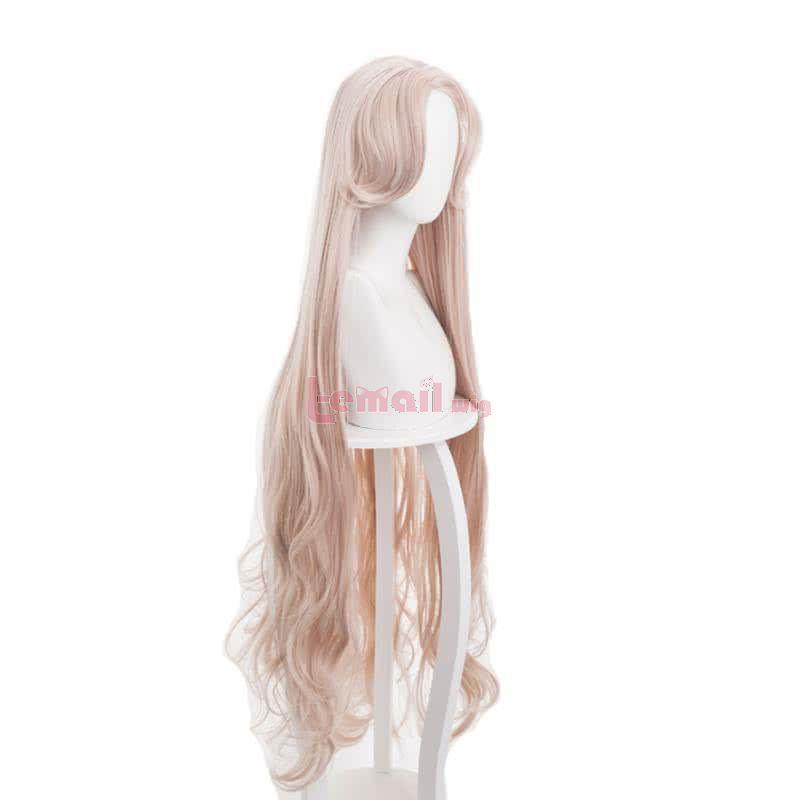 120cm Long Curly Orange Pink Arknights Warlock Cosplay Wigs