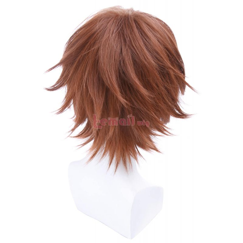 Short Brown Anime Katekyo Hitman Reborn Sawada Tsunayoshi Cosplay Wigs