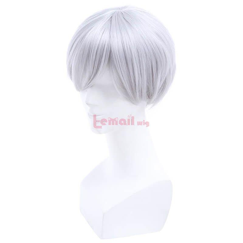 25cm Short Silver Grey Evangelion Cosplay Wigs