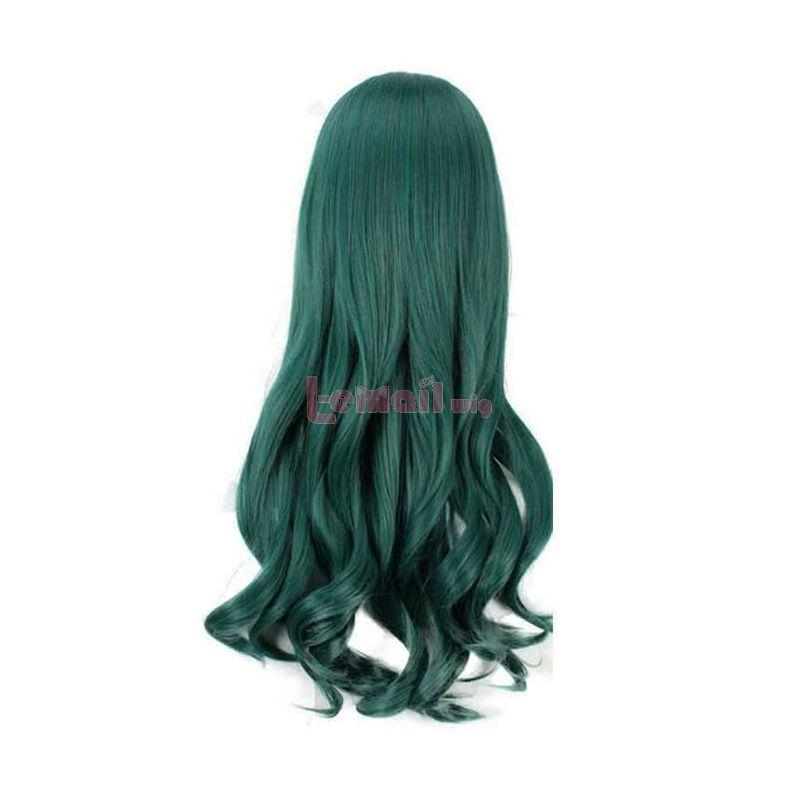 80cm Shimoneta Fuwa Hyouka Long Curly Green Cosplay Wigs