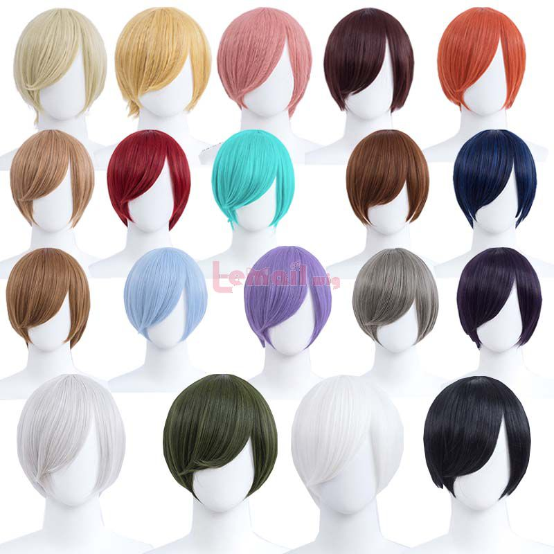 30cm Short Straight 19 Colors General Anime Cosplay Wigs