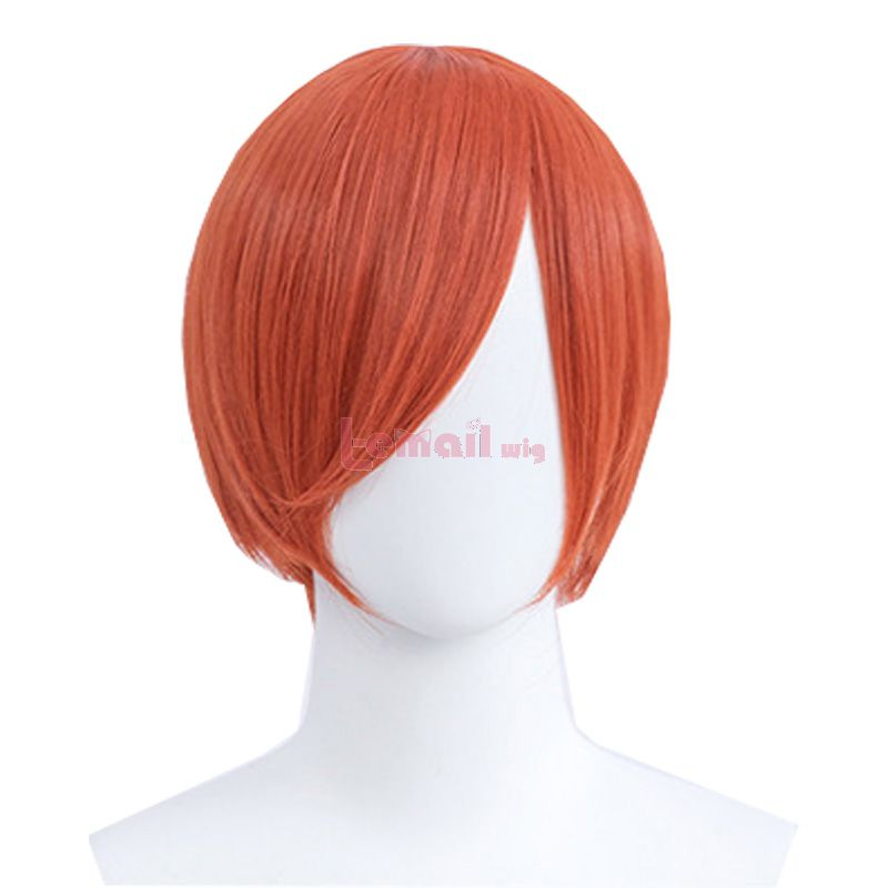 30cm Short Straight Orange General Anime Cosplay Wigs