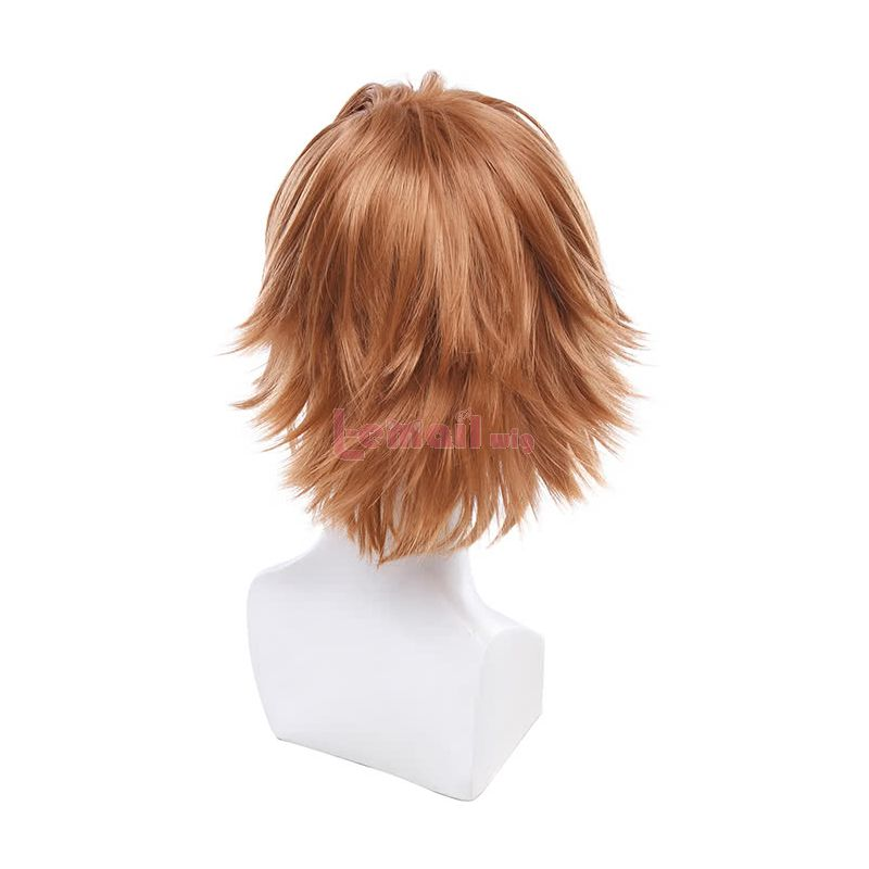 Anime Guilty Crown Shu Ouma Short Straight Brown Cosplay Wigs