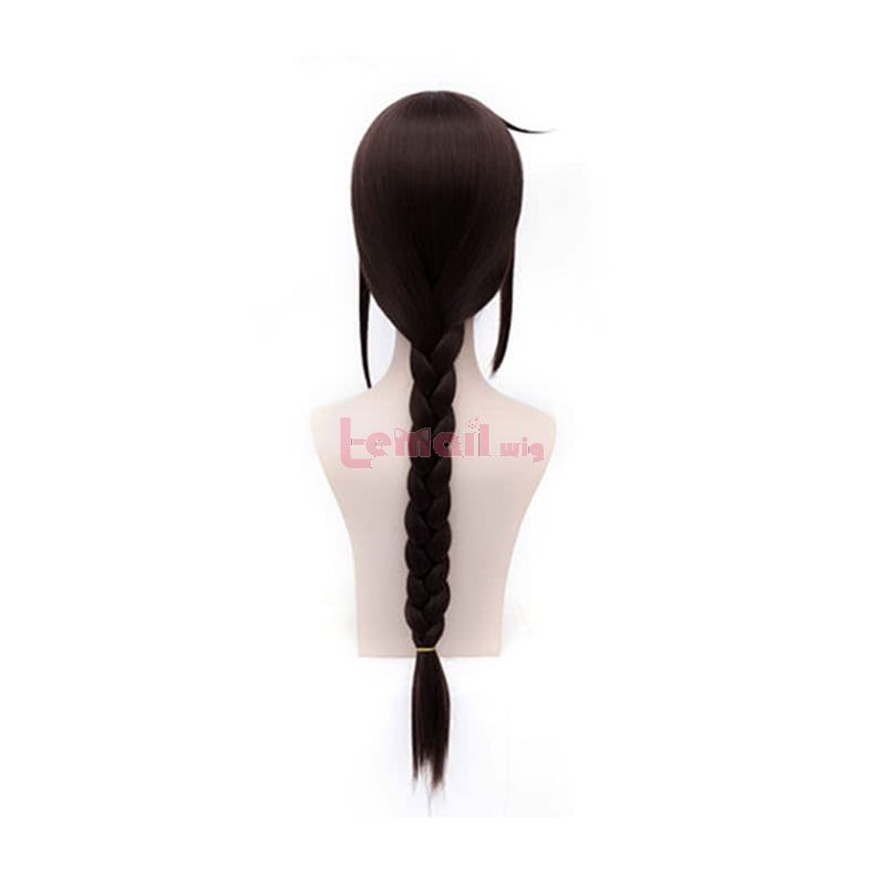 60cm Long Dark Brown DuRaRaRa!!Orihara Mairu Braid Women Wig