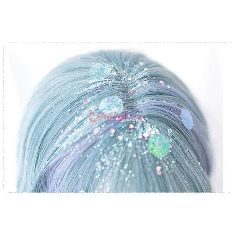 50cm Long Curly Gradient Color Lolita Wigs Fashion Women Hair