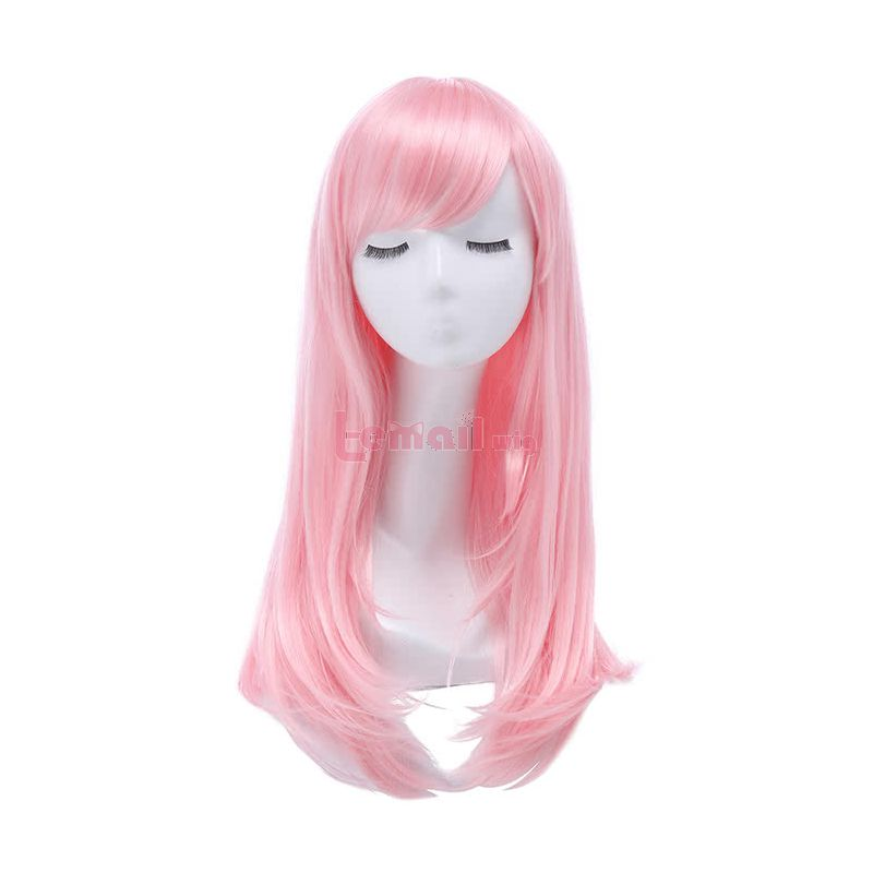 65 cm Pink Straight Cosplay Party Wig