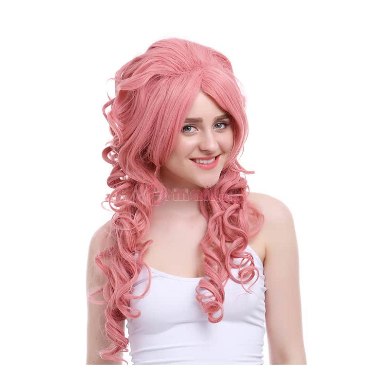 Long Magenta Wave Cosplay Wig Pink Wig
