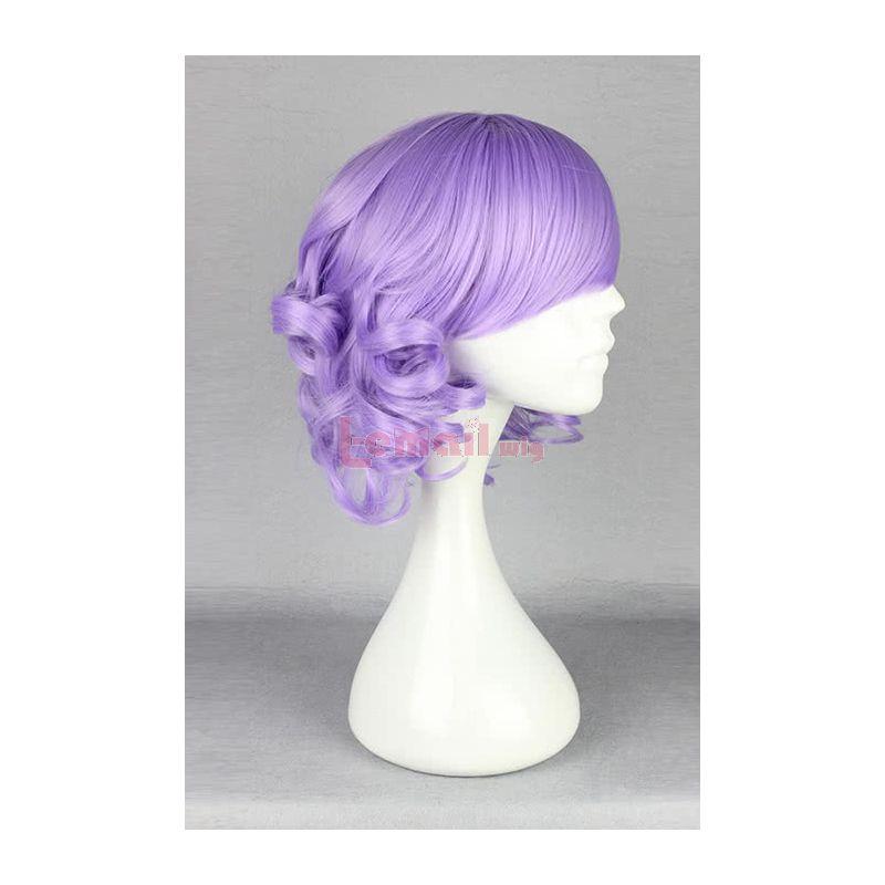 30cm Short Lolita Wave Curly BOB Purple Cosplay Wig