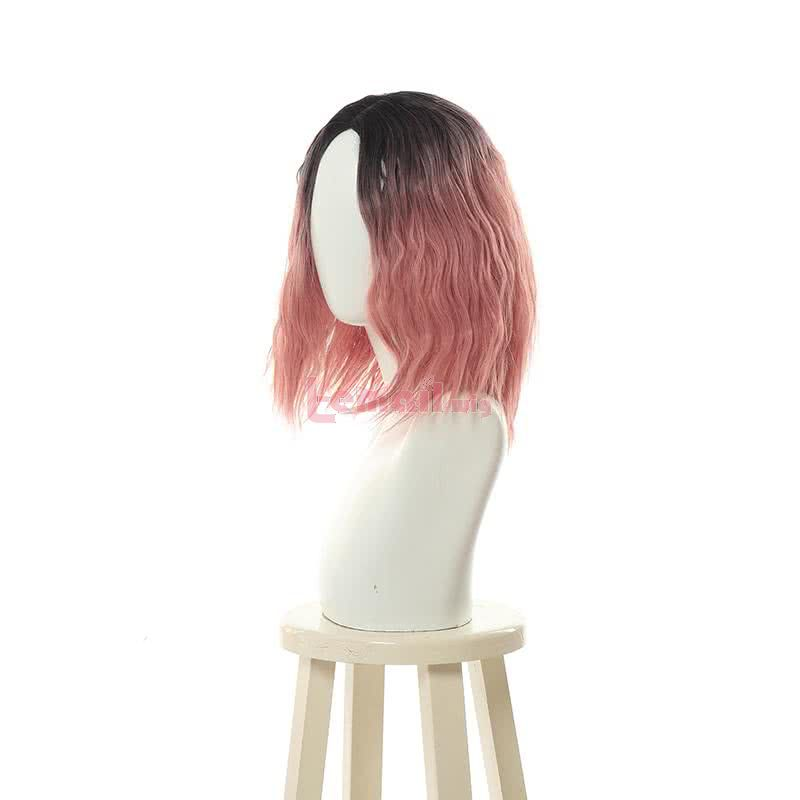 7 Colors 35cm Curly Women Hair Pink Black Grey Blue Short Trendy Wigs
