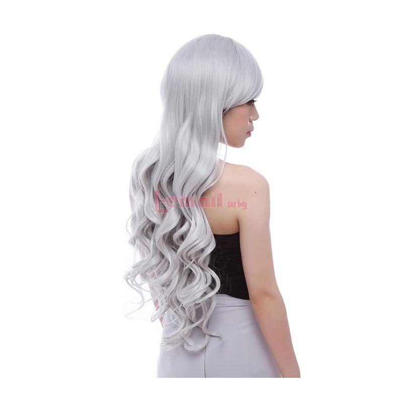 Long Silver Curly Sweet Women Fashion Hair Wigs