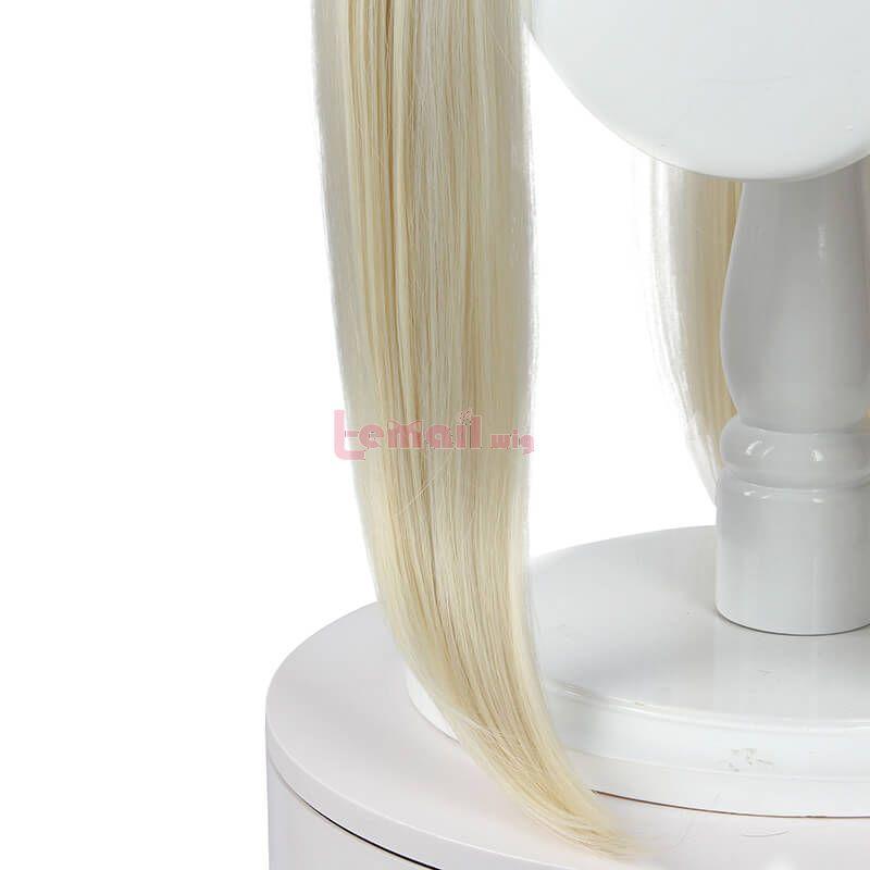 80cm Anime Kakegurui Yomoduki Runa Cream Yellow Cosplay Wigs Long Straight