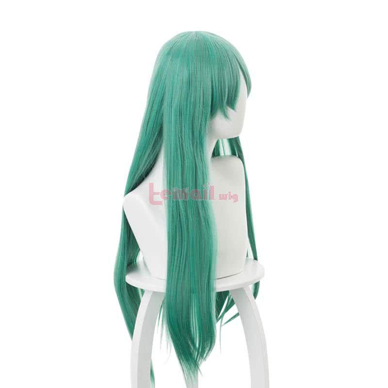 80cm Mixed Green Long Straight Arknights Hoshiguma Cosplay Wigs