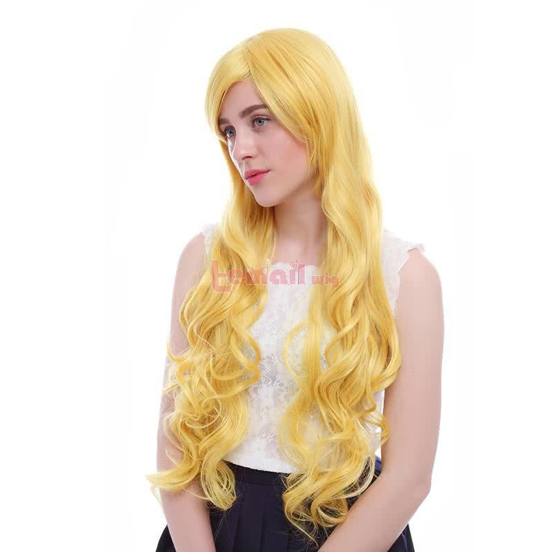 80cm Your Lie in April Miyazono Kaori Yellow Cosplay Wig