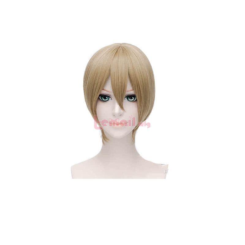 Gintama Sougo Okita Short Brown Cosplay Wig