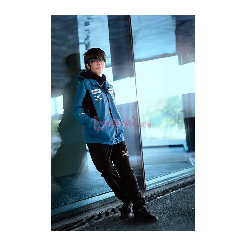 Yuri on Ice Yuri Katsuki Cosplay Costumes Blue Sportswear Suits