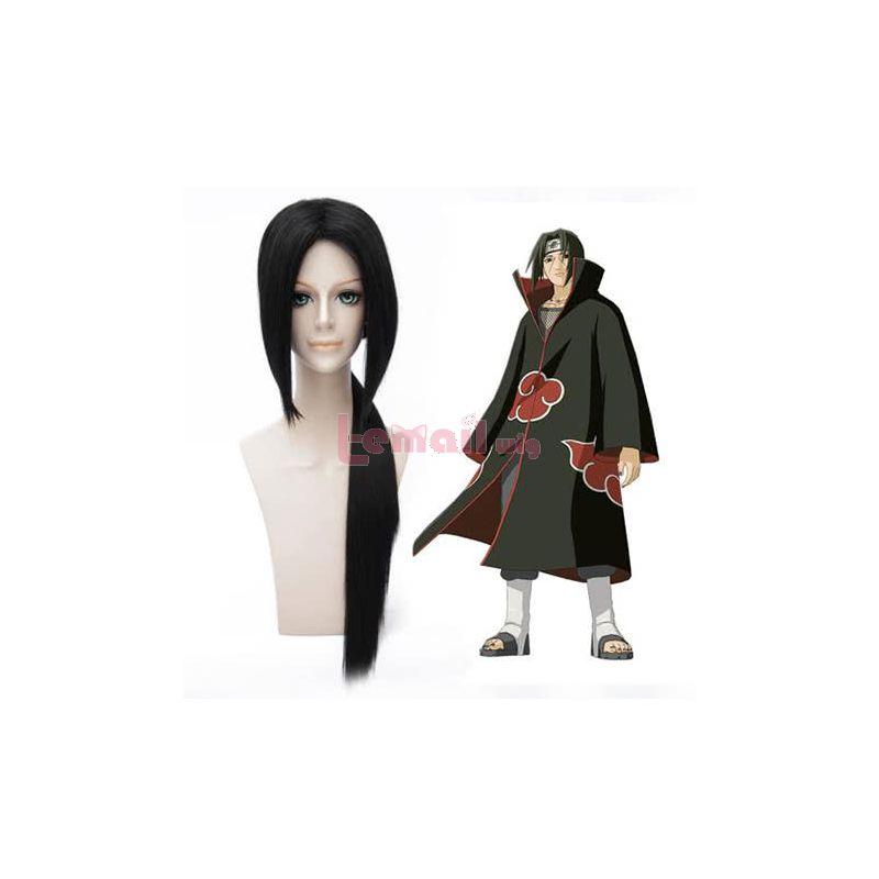 80CM Long Straight Black NARUTO Uchiha Itachi Cosplay Wig