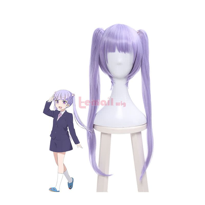 New Game!!Suzukaze Aoba Long Purple Cosplay Wig