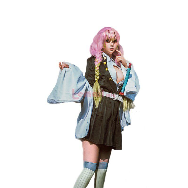 Demon Slayer Kanroji Mitsuri Uniform Fullset Cosplay Costume